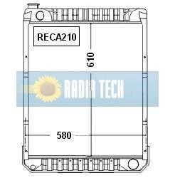 RADIATEUR CASE IH 1255, 1455 S et XL