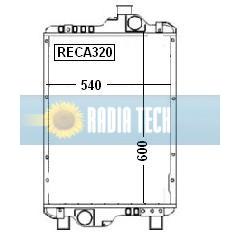 RADIATEUR CASE IH MXM140, MXM155