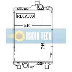 RADIATEUR CASE IH MXM175, MXM190