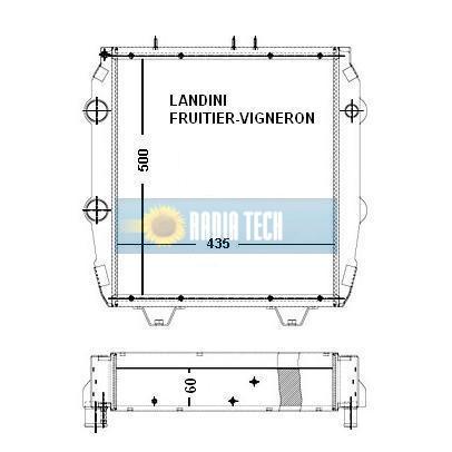 RADIATEUR LANDINI FRUITIER-VIGNERON REX 60, 65, 70, 75, 80, 85, 90, 95, 100, 105 NT2 et NT3