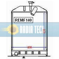 RADIATEUR MASSEY FERGUSON 155, 158 STANDARD