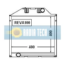 RADIATEUR VALTRA VALMET A95, A75, A85 ÉCHANGE STANDARD